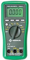 GT-DM-45, Greenlee мультиметр DM-45