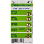 (WO412) жиклёры (форсунки) для газовой плиты Ariston, Indesit, Zanussi ...