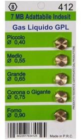 Фото 1/2 (WO412) жиклёры (форсунки) для газовой плиты Ariston, Indesit, Zanussi, Electrolux (на баллонный газ)