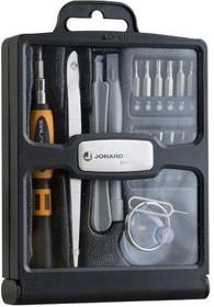 JIC-TK-19, Jonard TK-19 - набор инструмента для ремонта смартфонов и планшетов