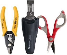 JIC-TK-350, Jonard TK-350 - набор: стриппер для оптоволокна JIC-375, ножницы JIC-186, чехол