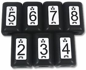 PS-PD_TT208, Psiber TT208 - Набор идентификаторов схемы сети с номерами (№ 2-8) для тестеров Psiber, 7шт