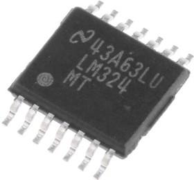 LM324MT/NOPB, 4 LOW POWER OP AMP,LM324MT 1MHZ