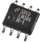 Фото 2/2 LM386M-1/NOPB, Низковольтный аудиоусилитель для портативной аппаратуры, 4В…12В, 4мА, 325мВт, 8 Ом, [SO-8]