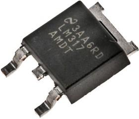 LM317AMDT/NOPB, Регулятор напряжения с установкой выходного напряжения 1.2В…37В, 0.5А, [TO-252]