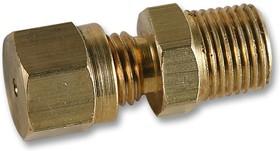 """FC-001, Обжимной сальник, 1/8"""" BSPT конусная резьба, латунь, для пробников 1.5мм"""