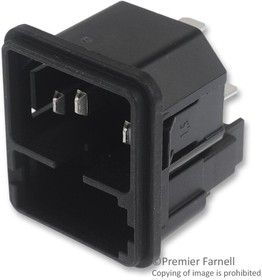 4301.0522, Power Entry Module Unfiltered M 3 POS 250VAC 10A Fuse ST 1 Port