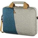"""Сумка для ноутбука 15.6"""" Hama Florence серый/голубой полиэстер (00101573)"""