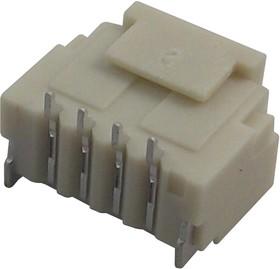 M40-3010446, Разъем типа провод-плата, вертикальный, 1 мм, 4 контакт(-ов), Штекер, Серия M40