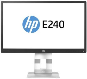 """Монитор ЖК HP EliteDisplay E240 23.8"""", черный и серебристый [m1n99aa]"""