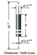 DD1600, Диод высоковольтный 16000В 20мА [AXIAL-12x3]