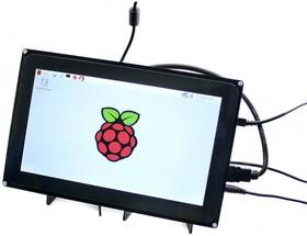 Фото 1/3 10.1inch HDMI LCD (H) (with case), HDMI / VGA / AV(CVBS) дисплей 1024×600px с емкостной сенсорной панелью для мини-PC (с корпусом)