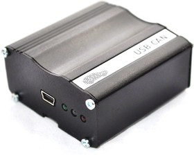 Фото 1/4 USB-CAN (OBD), 1-портовый преобразователь USB в CAN в металлическом корпусе, с OBD кабелем, гальваническая развязка