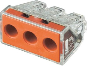 773-173, Клемма 3 контактная, 2.5-6.0 кв.мм