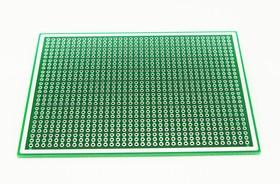 Плата макетная 80(76) х 100мм двусторонняя (соединение по 3)