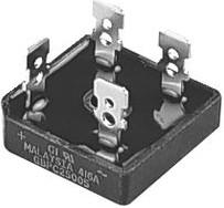 Фото 1/3 GBPC2501-E4/51, Мостовой выпрямитель, 1 Фаза, 100 В, 25 А, Модуль, 1.1 В, 4 вывод(-ов)