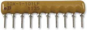 4608X-102-820LF, Фиксированный резистор цепи, 82 Ом, Серия 4608X, 4 элемент(-ов), Изолированный, SIP, 8 вывод(-ов)