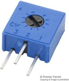 M63X102KB40, Подстроечный потенциометр, 1 кОм, 1 виток(-ков), Сквозное Отверстие, Серия 63X, 500 мВт, ± 10%