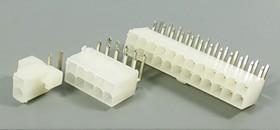 Фото 1/2 Штекер питания Mini-Fit 2-х рядный на 10 контактов, угловой на плату, № 9576 шт пит MF\2x 5\P4,2\плата\угл\MF-2x5R