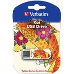 Флешка USB VERBATIM Store n Go Mini Tattoo Koi 16Гб, USB2.0 ...