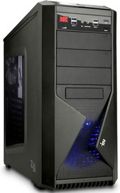 Рабочая станция IRU WS 310, Intel Xeon E3-1226 v3, DDR3 8Гб, 1Тб, Intel HD Graphics P4600, Windows 7 Professional, черный [371823]