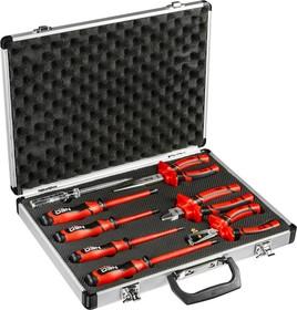 01-301, Набор шарнирно-губцевого инструмента с отвертками 1000 В, 8 шт.