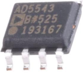 AD5543BRZ, ЦАП, 16 бит, 1.2 Мвыборок/с, Последовательный, 4.5В до 5.5В [SO-8]