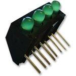 107-314-04, Индикатор печатной платы, Зеленый, 4 светодиод(-ов) ...