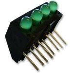 107-314-01, Индикатор печатной платы, Зеленый, 4 светодиод(-ов) ...