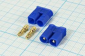 Фото 1/2 Штекер силового питания EC2 на два контакта, 15А, № 12907 шт пит EC\ 2C\\каб\\EC2-M\