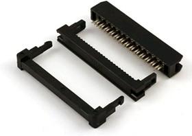IDC2-26F (DS1017-26-M), Розетка 2.0мм на шлейф с фиксатором кабеля