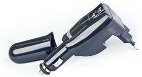 New! Адаптер питания Gembird MP3A-UC-ACCAR 220V-5V+12V-5V Два USB: 1A+0.5A черный. (2008717)
