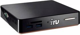 Неттоп IRU 115, Intel Celeron 3205U, DDR3L 4Гб, 500Гб, Intel HD Graphics, CR, Free DOS, черный [361803]