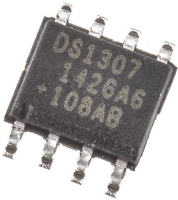 DS1307Z+, REAL TIME CLOCK,DS1307 56B RAM SOIC8