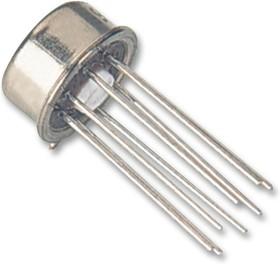 LM158H, Операционный усилитель, 2 Усилителя, 1 МГц, 0.5 В/мкс, 3В до 32В, TO-99, 8 вывод(-ов)