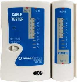 JIC-MCT-468, Jonard MCT-468 - кабельный тестер для модульных разъемов RJ11, RJ12, RJ45