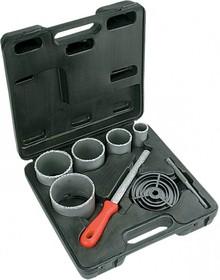 60H900, Сверла для плитки с вольфрамовым напылением - 32-83 мм, набор 5 шт + напильник