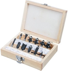 60H010, Сверла-фрезы, набор 12 шт., хвостовик 8 мм