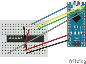 Arduino ISP программатор для ATmega328, Минимальная Arduino