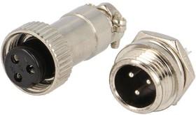 DS1110-01-3, Разъем миниатюрный 3pin (блок-кабель)