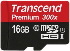 Фото 1/2 TS16GUSDCU1, 16GB microSDHC Class10 UHS-I PREMIUM