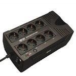 Фото 2/2 AVRX550UD, 550VA ultra-compact 230V line-interactive UPS with CEE 7/7 SCHUKO plug and outlets. Modem/fax prote