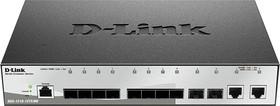 DGS-1210-12TS/ME/B1A, Управляемый коммутатор 2 уровня с 10 портами 1000Base-X SFP и 2 портами 10/100/1000Base-T