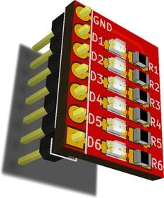 RDC1-0011, Светодиодный индикатор состояния выводов Arduino UNO, Arduino MEGA 2560