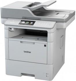 DCPL6600DWR1, МФУ DCP-L6600DW белый, лазерный, A4, монохромный, ч.б. 46 стр/мин, печать 1200x1200, скан. 1200x1200