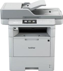 MFCL6800DWR1, МФУ MFC-L6800DW белый, лазерный, A4, монохромный, ч.б. 46 стр/мин, печать 1200x1200, скан. 1200x1200