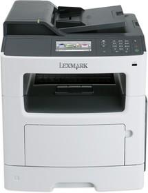 35S5801, MX410de белый, лазерный, A4, монохромный, ч.б. 38 стр/мин, печать 1200x1200, скан. 600x600, лоток 25