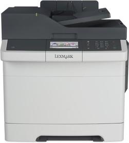 28D0566, CX410de белый, лазерный, A4, цветной, ч.б. 30 стр/мин, цвет 30 стр/мин, печать 1200x1200, скан. 600x