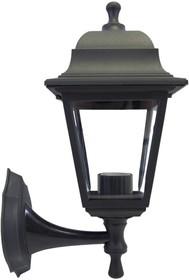 11-11 ЧЕР (НБУ 04-60-001 ЛЕДА) Светильник-фонарь настенный черный 4-хгранный прозрач стекло