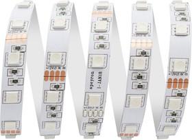 00-75 Лента светодиодная 12В, 14,4Вт/м, smd 5050, 60 д/м, IP67 (НАНО), ширина подложки 10мм, RGB, 1м
